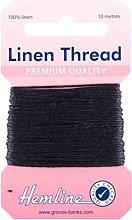 Hemline H1001/05 | Navy 100% Linen Strong Mending
