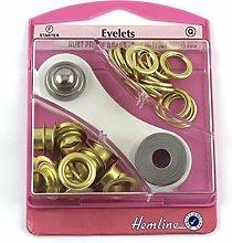 Hemline H438P.10.G | Gold Eyelet Starter Kit |