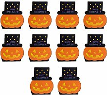 Hemoton 10 pcs Nougat Boxes Happy Halloween