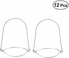 Hemoton 12 Pcs Stainless Steel Mason Jar Hooks