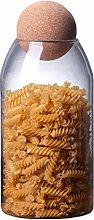 Hemoton 1200ML Glass Food Storage Jar with Seal