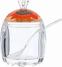 Hemoton 150ml Acrylic Seasoning Jar Single Clear