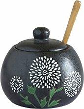 Hemoton 1pc 450ML Dressing Jar Ceramic Seasoning
