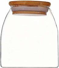 Hemoton 1Pc Transparent Glass Canister Kitchen