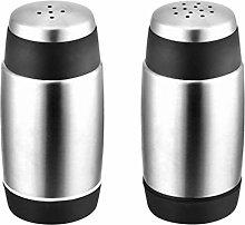 Hemoton 2 pcs Stainless Steel Pepper Shaker