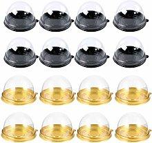 Hemoton 200pcs Mini Cupcake Boxes Muffin Pod Dome