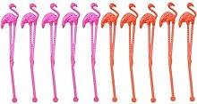 Hemoton 20pcs Creative Chic Plastic Flamingo