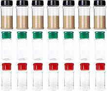 Hemoton 25 Pcs Plastic Seasoning Bottle Empty