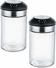 Hemoton 2pcs 255ml Spice Shaker Bottle Seasoning