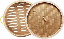 Hemoton 2pcs Bamboo Steamer Chinese Steamer Basket