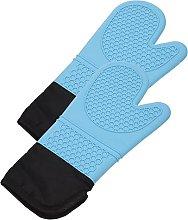 HEMOTON 2pcs Non Slip Cooking Gloves Mitts Heat