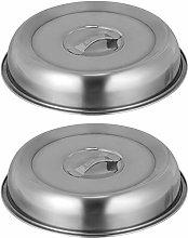 HEMOTON 2pcs Stainless Steel Basting Cover Round