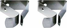 Hemoton 2pcs Stainless Steel Thermometer Holder