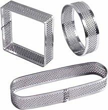 Hemoton 3 Pcs Tart Rings Set Stainless Steel