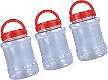 Hemoton 3pcs Clear Plastic Airtight Food Storage