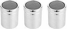 Hemoton 3PCS Stainless Steel Spice jar Practical