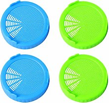 Hemoton 4 Pcs Plastic Sprouting Lids for Wide