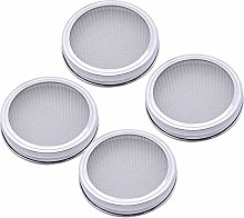 Hemoton 4pcs Stainless Steel Seed Sprouting Screen