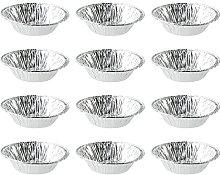HEMOTON 500 PCS Foil Trays Muffin Cases Disposable