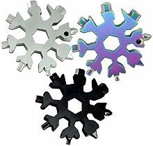Hemoton 6pcs 18-in-1 Snowflake Multi Tool