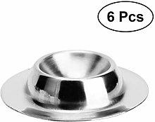 Hemoton 6pcs 304 Stainless Steel Egg Holder Egg