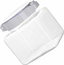 Hemoton 900ml Plastic Jar with Airtight Seal Lid