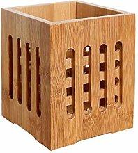 Hemoton Bamboo Chopsticks Holder Holey Cutlery