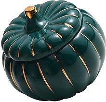 HEMOTON Ceramic Stew Pot with Lid Pumpkin Shaped