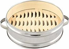 Hemoton Chinese Cooking Steamer Stainless Steel