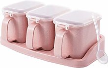 Hemoton Condiment Container Seasoning Box Plastic