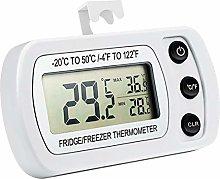 Hemoton Digital Waterproof Fridge Thermometer LCD