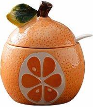 Hemoton Fruit Shaped Ceramic Sugar Bowl Salt Pot