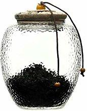 Hemoton Glass Storage Jar Kitchen Food Storage