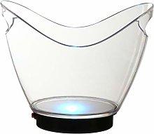 Hemoton Glowing LED Ice Bucket Plastic Luminous