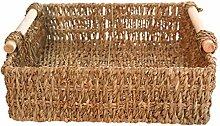 HEMOTON Handwoven Natural Seagrass Storage Baskets