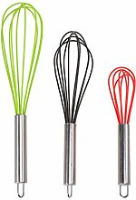 Hemoton Kitchen Balloon Whip Whisk Stainless Steel