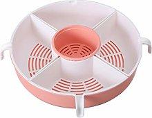 Hemoton Kitchen Colander Basket Fruit Washing Bowl