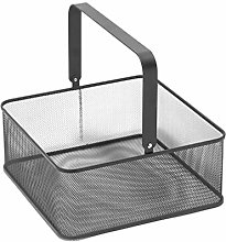 HEMOTON Metal Basket Handle Basket Tray Basket