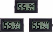 Hemoton Mini Hygrometer Thermometer, 3 Pack LCD