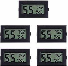 Hemoton Mini Hygrometer Thermometer, 5 Pack LCD