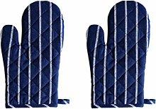 Hemoton Oven Mitts Cotton Linen BBQ Gloves Heat
