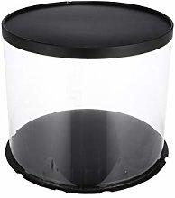 Hemoton Plastic Cake Box Clear Round Cake Carriers