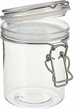 Hemoton Plastic Food Storage Jar Kitchen Canister