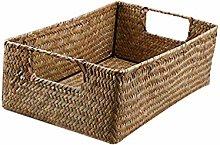 Hemoton Retro Hand Woven Storage Basket