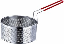 Hemoton Round Wire Fry Basket Stainless Steel
