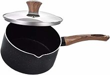 HEMOTON Saucepan With Lid Stainless Steel Milk Pot