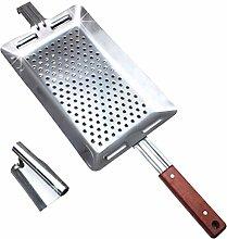 Hemoton Stainless Steel Spaetzle Maker with Pusher