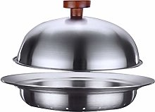 Hemoton Stainless Steel Steamer Basket with Cover