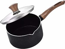 Hemoton Stone Saucepan with Lid Cover Milk Pan