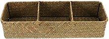HEMOTON Wicker Cube Storage Baskets Sea Grass